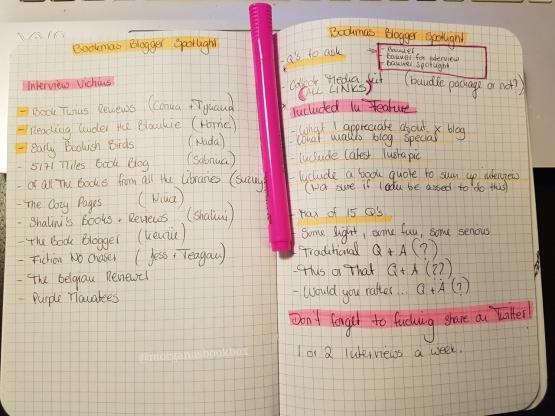 journal notes xmas