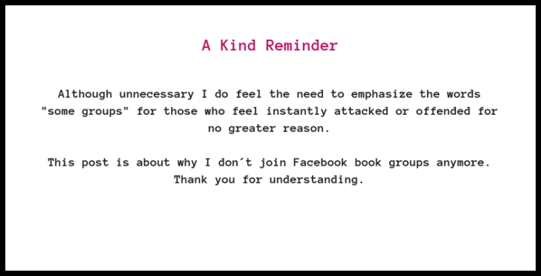 kind reminder