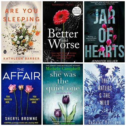 Floral Covers Thrillers and Mystery