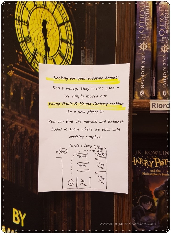 bookstore notice